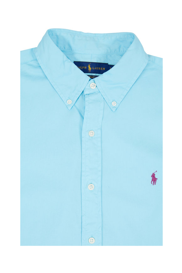 Polo Ralph Lauren Light Blue Feather Weight Twill Sport Shirt
