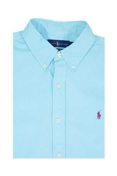 Polo Ralph Lauren - Light Blue Feather Weight Twill Sport Shirt