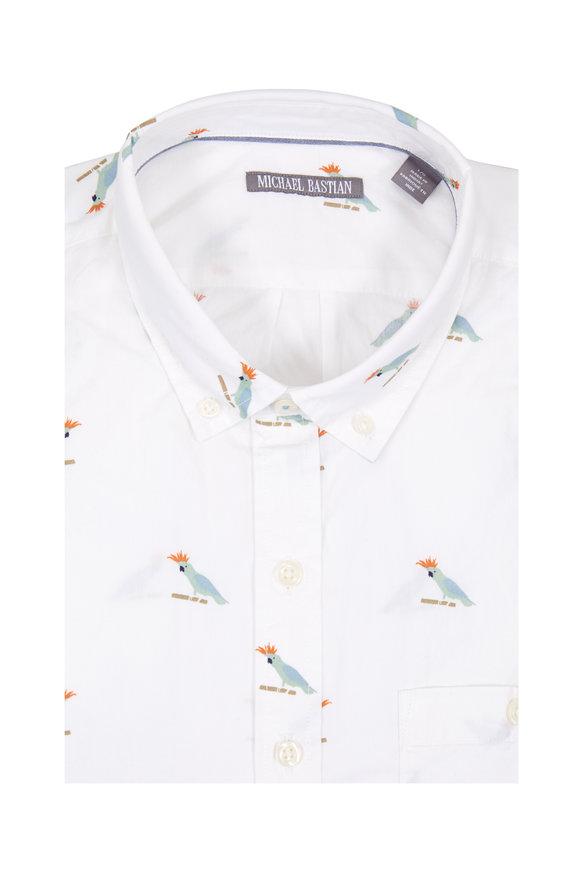 Michael Bastian Parrot Short Sleeve Sport Shirt