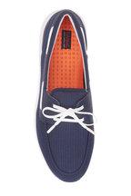 Swims - Breeze Navy Blue Mesh Boat Shoe