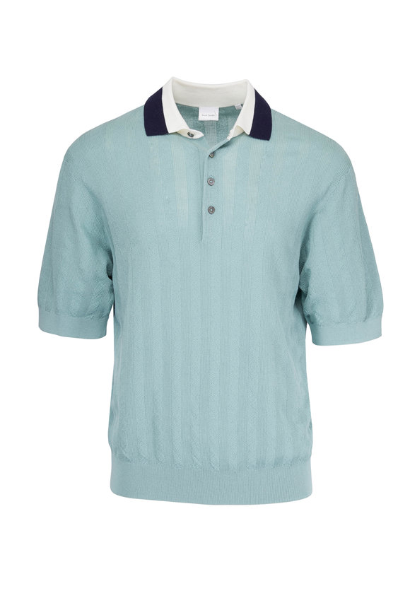 Paul Smith Mint Knit Cotton Polo