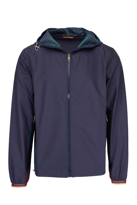 Paul Smith Navy & Multicolor Paneling Full Zip Jacket