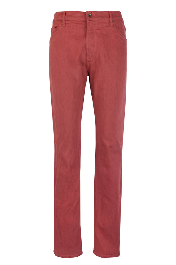 Raleigh Denim Martin Mesa Red Stretch Five Pocket Jean