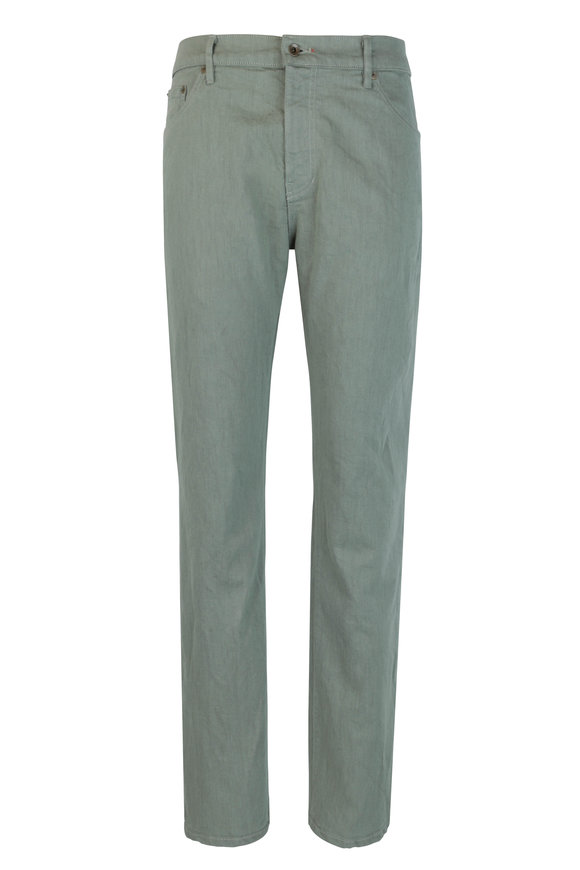 Raleigh Denim Martin Sage Stretch Cotton Five Pocket Jean