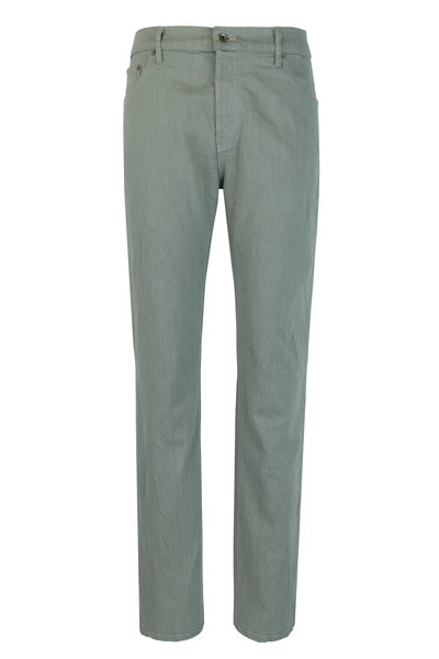 Raleigh Denim - Martin Sage Stretch Cotton Five Pocket Jean