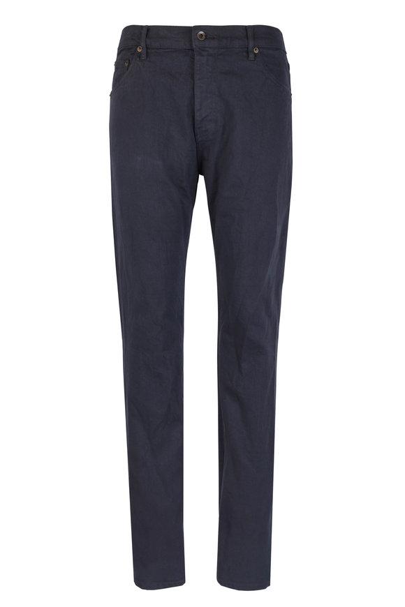 Raleigh Denim Martin Dark Blue Stretch Cotton Five Pocket Jean