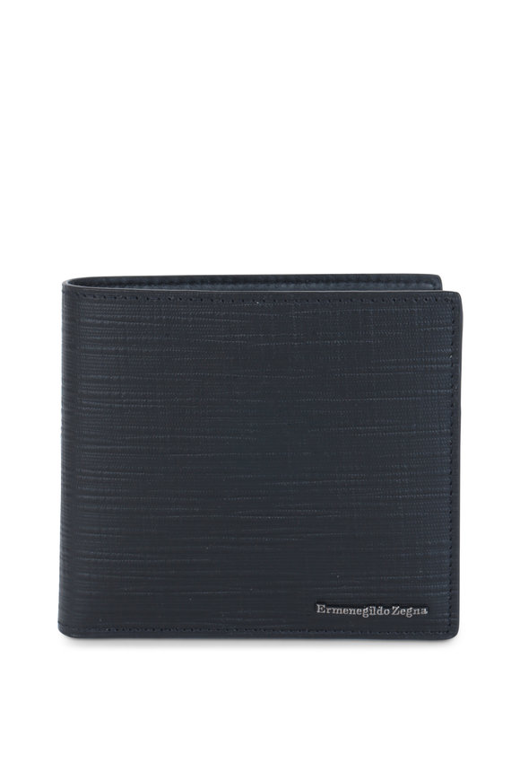 Ermenegildo Zegna Black Print Leather Wallet