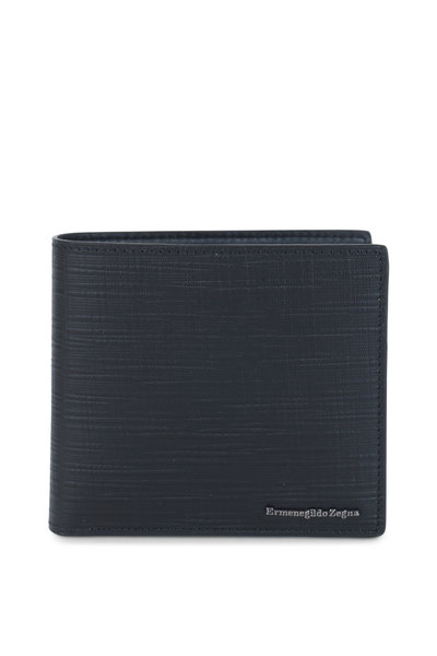 Ermenegildo Zegna - Black Print Leather Wallet