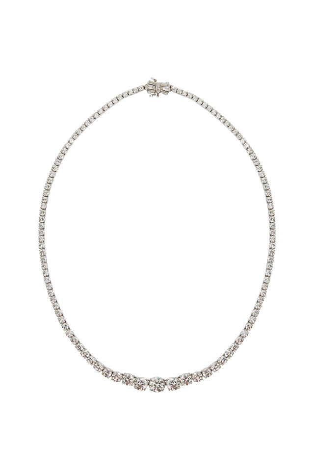 Riviera Platinum White Diamond Necklace
