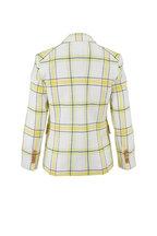Veronica Beard - School Boy Yellow & Green Windowpane Dickey Jacket