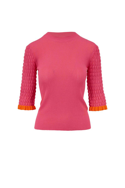 See by Chloé - Hot Pink Ribbed Crewneck Sweater