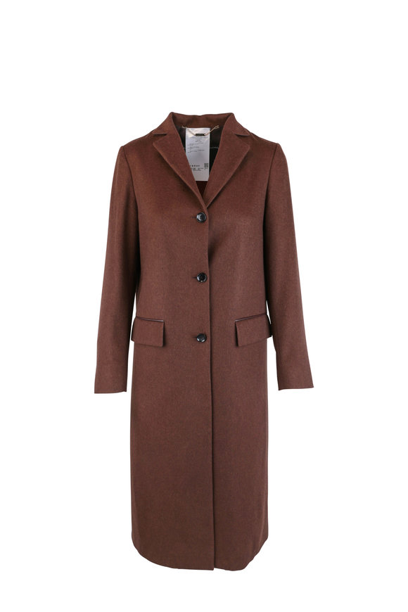 Kiton Classic Brown Cashmere Coat