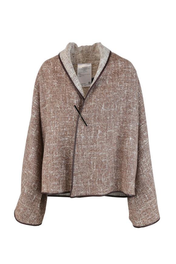 Kiton Beige Wool & Alpaca Shawl Collar Coat