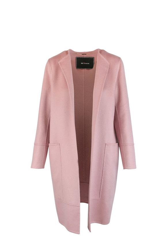 Kiton Pink Cashmere Topper Jacket