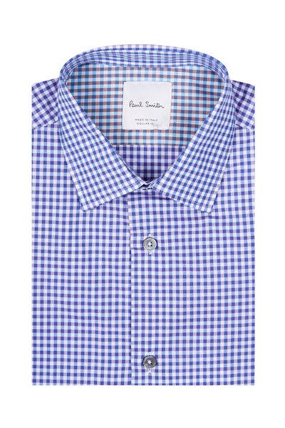 Paul Smith - Soho Purple & Blue Check Dress Shirt