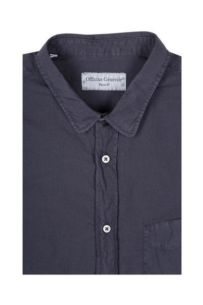 Officine Generale - Graphite Cotton Sport Shirt
