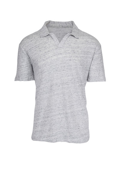 Officine Generale - Simon Gray Pigment Dyed Linen Polo