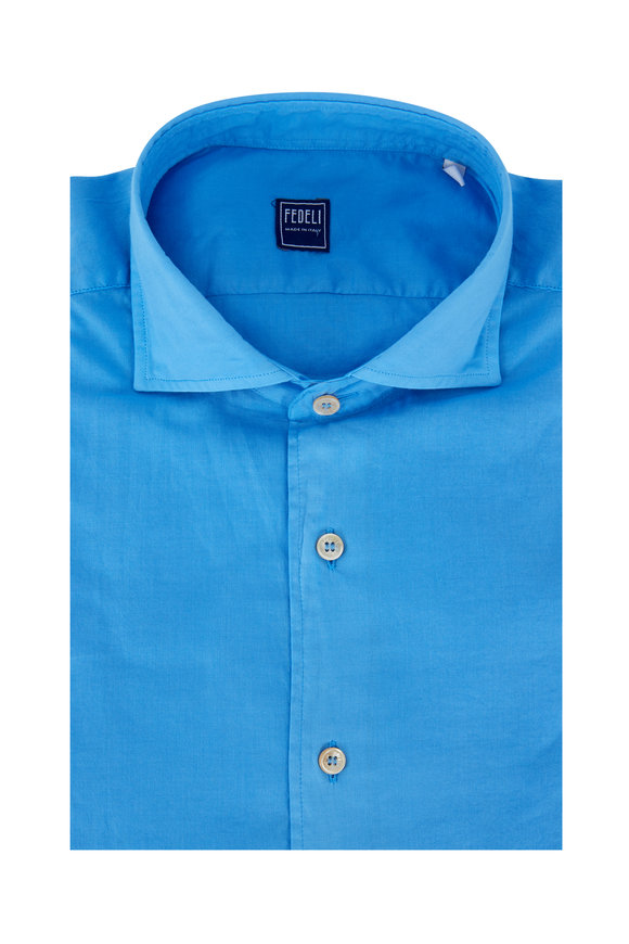 Fedeli Medium Blue Sport Shirt
