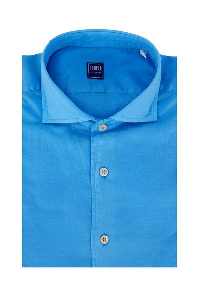 Fedeli - Medium Blue Sport Shirt
