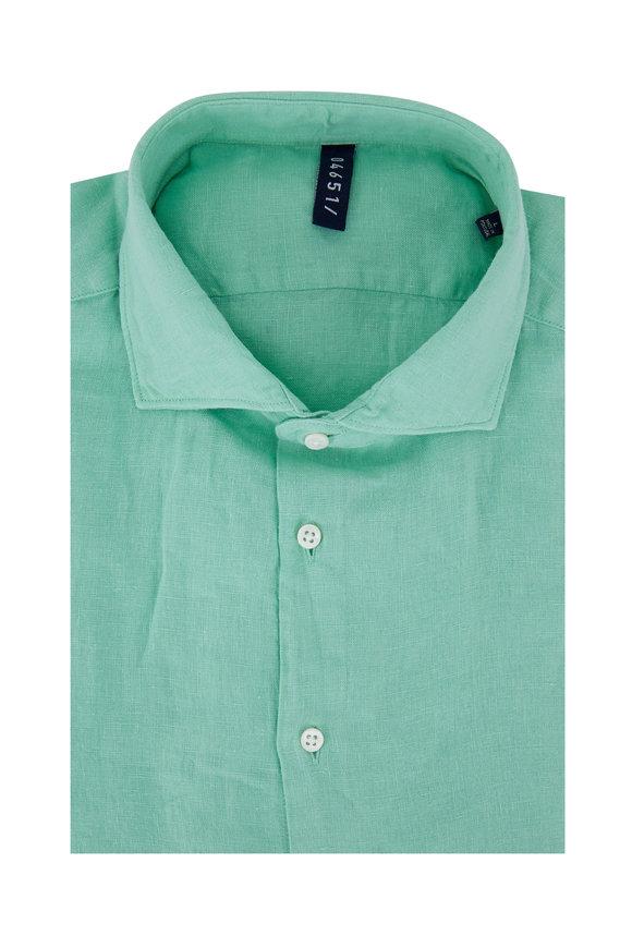 04651/ Light Green Linen Sport Shirt