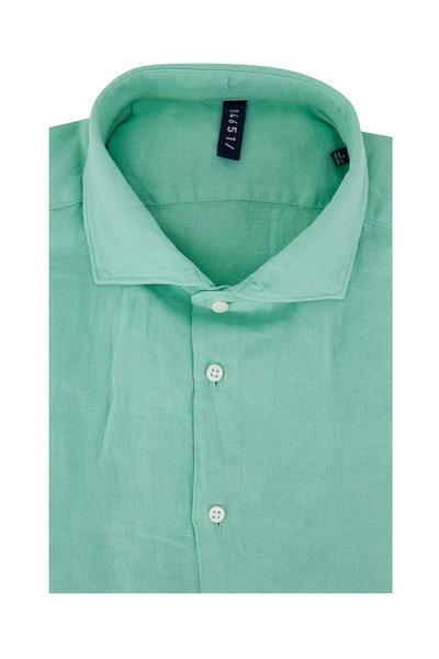 04651/ - Light Green Linen Sport Shirt