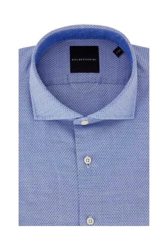 Baldessarini Harry Light Blue Textured Sport Shirt