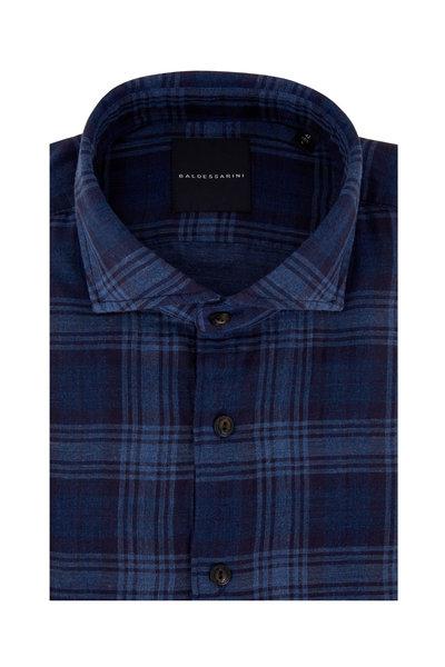 Baldessarini - Henry Navy Blue Plaid Sport Shirt