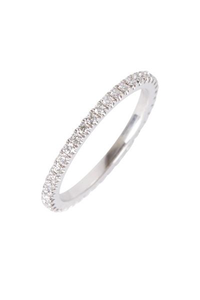 Kwiat - White Gold White Diamond Stack Ring