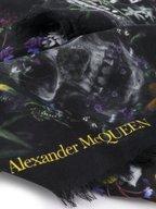 Alexander McQueen - Black Ophelia Skull Scarf