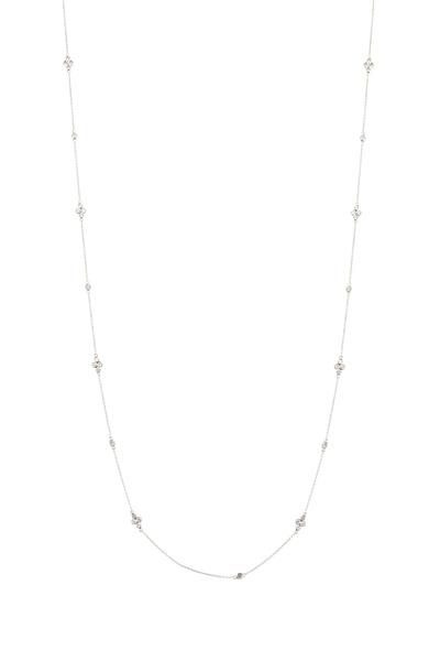 Kwiat - White Gold White Diamond String Necklace