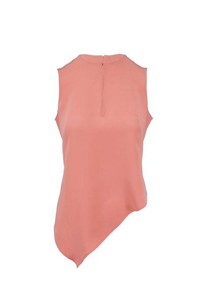 Akris - Bellini Silk Asymmetric Hem Sleeveless Top