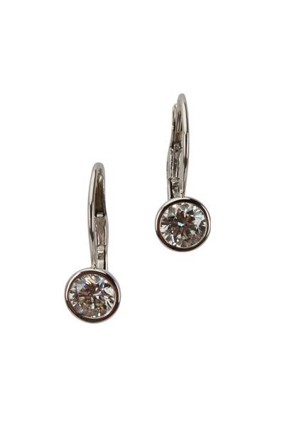 Kwiat - 18K White Gold Diamond Earrings