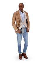 Brunello Cucinelli - Light Gray Wool & Cashmere V-Neck Pullover