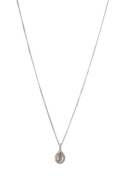 Kwiat - Silhouette Platinum White Diamond Pendant Necklace