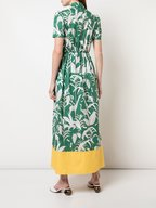 Borgo De Nor - Odilia Green Animal Kingdom Short Inset Dress