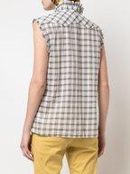 Nili Lotan - Feora White Plaid Cotton Shirt