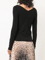 Vince - Black Double V-Neck Sweater