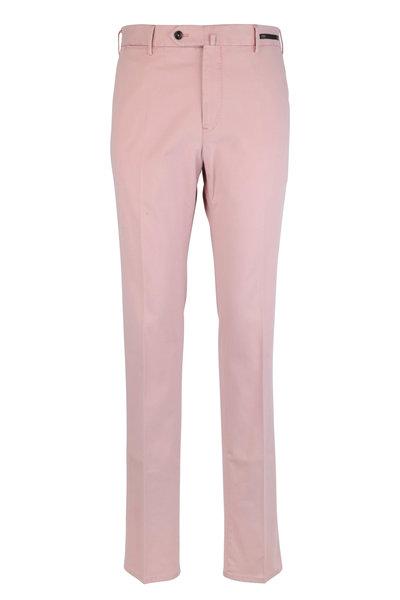 PT Torino - Pink Stretch Cotton Slim Fit Pant