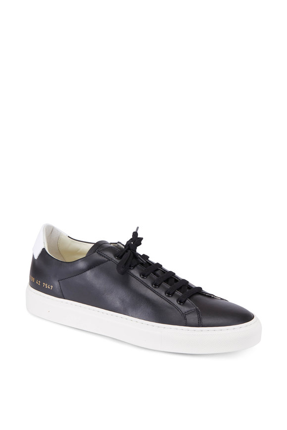 Common Projects Retro Black Leather Low-Top Sneaker