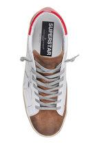Golden Goose - Men's Superstar White & Red Low-Top Sneaker