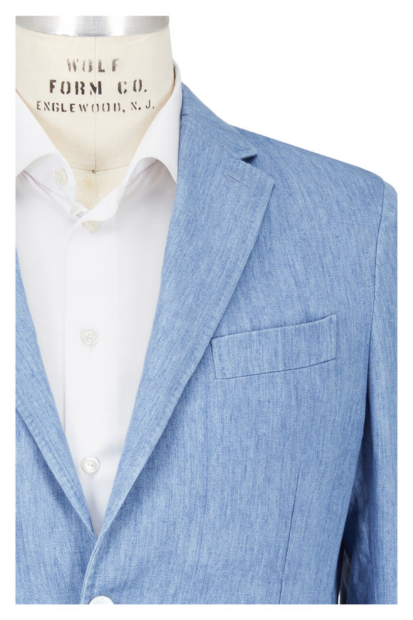 Ermenegildo Zegna Light Chambray Linen Sportcoat