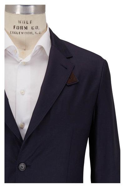 Ermenegildo Zegna - Navy Blue Washed Silk Traveler Jacket