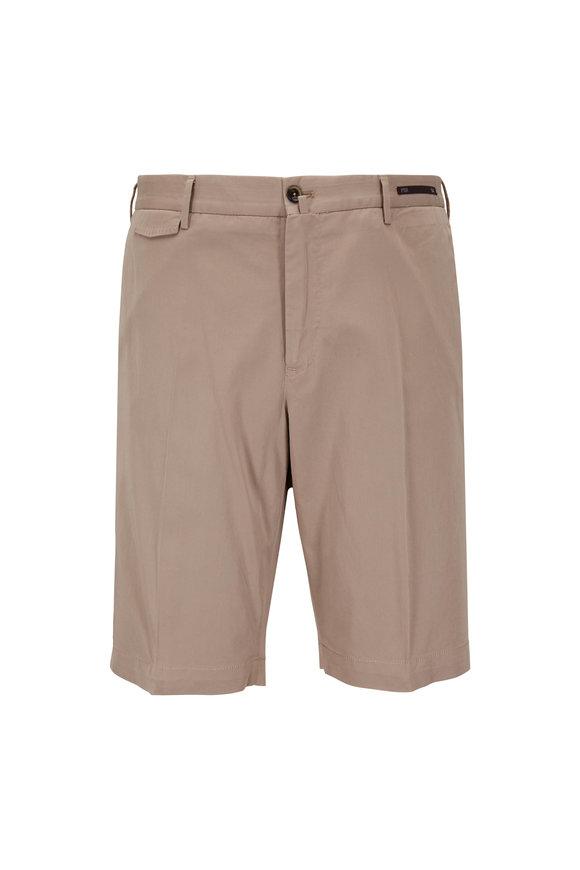 PT Pantaloni Torino Khaki Stretch Twill Shorts
