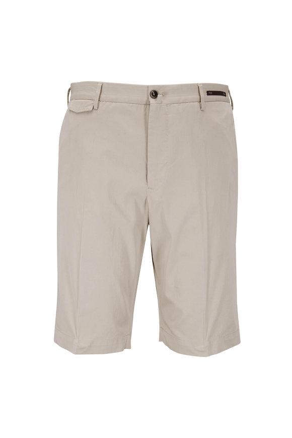 PT Pantaloni Torino Sand Cotton & Silk Chino Shorts