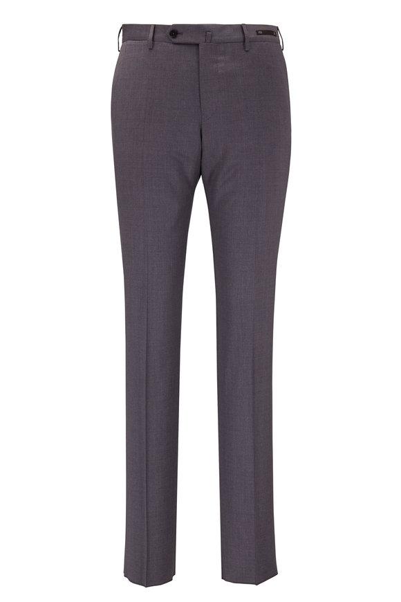 PT Pantaloni Torino Light Gray Wool Slim Fit Pant