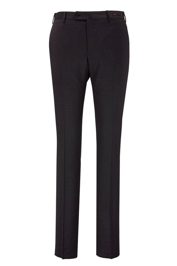 PT Pantaloni Torino Solid Navy Performance Wool Slim Fit Pant