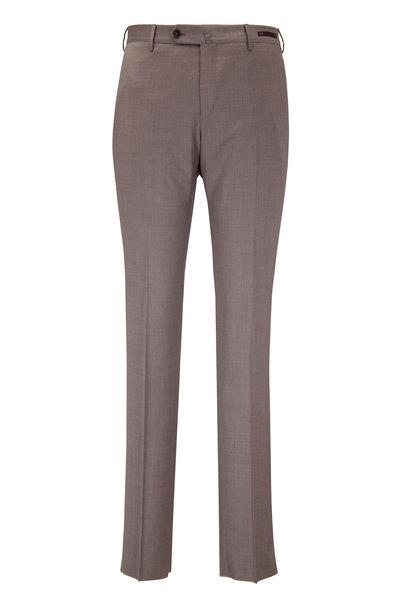 PT Torino - Solid Tan Wool Slim Fit Pant