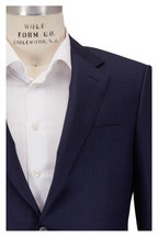 Canali - Navy & Brown Faded Check Wool Suit