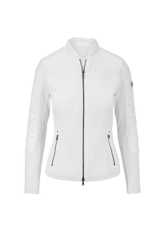 Bogner Mella White Textured Lightweight Nylon Jacket