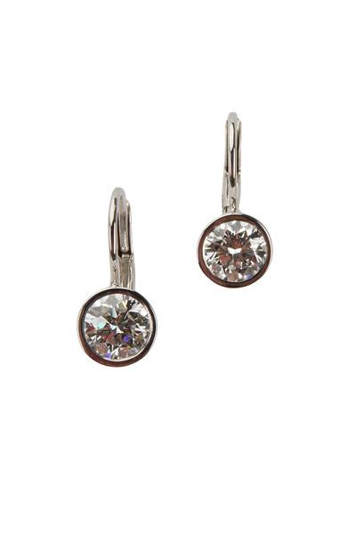 Kwiat - White Gold White Diamond Earrings